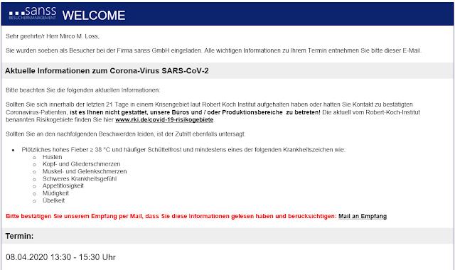 Welcome-Corona-Einladung